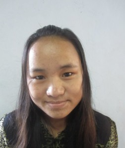 Kee Lii, Age 23, Parent- U Thang Kee & Daw Hre Poen, from Chin State, who is working as helper at Mercy Children's Home. She wants to become a teacher and worker at the Orphanage