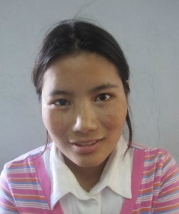 Ling Pam, Age 18, Parent- U Khui Om Ling & Daw Hnin Hlue from Chin State, she wants to become children's teacher at the Church