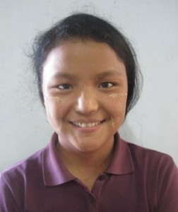 Mawng Li, Age 18, Parent- U Naing Mawng & Daw Nuen Awl from Shan State, She wants to become a good teacher at the Church