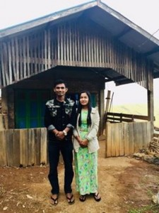 Zaw Min Aung and his wife Mya Tita
